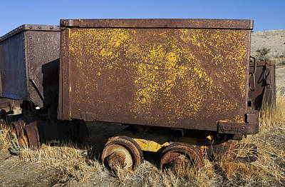 Photograph - Ore Cars by Sonya Lang