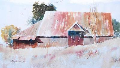 Oregon Barn Art Print by John  Svenson