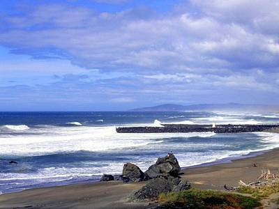 Photograph - Oregon Breakers by Will Borden