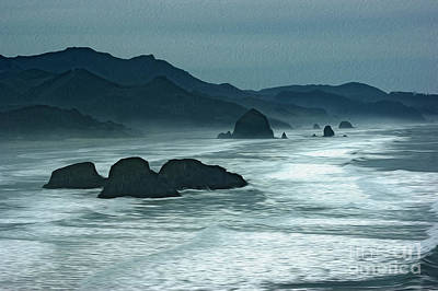 Oregon Cannon Beach Art Print by Nur Roy