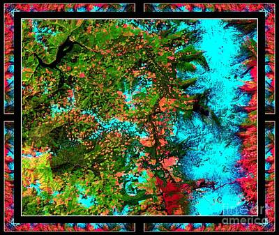 Creationism Photograph - Oregon Cascades Nasa Satellite by Rose Santuci-Sofranko