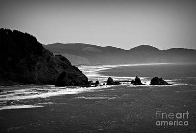 Photograph - Oregon Coast Bw by Chalet Roome-Rigdon