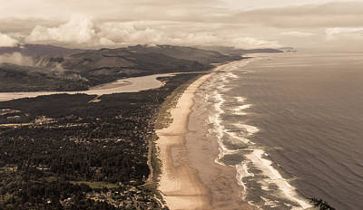 Photograph - Oregon Coast From Above by Scott Rackers