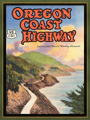 Digital Art - Oregon Coast Highway by Larry Hunter