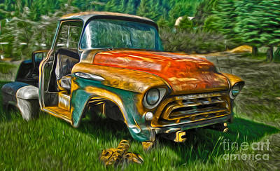 Photograph - Oregon Coast Rusty Old Truck by Gregory Dyer