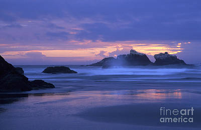 Photograph - Oregon Coast Sunset by Chris Scroggins