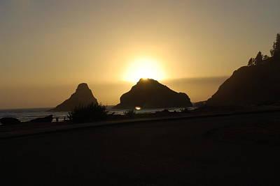 Photograph - Oregon Coast Sunset by Kathy Sampson