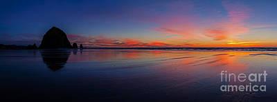 Photograph - Oregon Coast Sunset Sandscape by Mike Reid