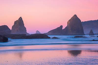 Soft Colors Photograph - Oregon Coast Twilight by Darren  White