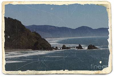 Mixed Media - Oregon Coast View 2 by Chalet Roome-Rigdon