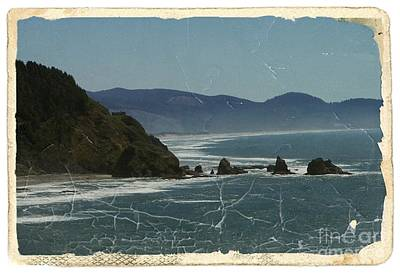 Mixed Media - Oregon Coast View by Chalet Roome-Rigdon
