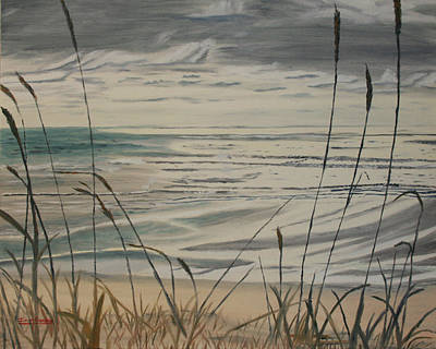 Oregon Coast With Sea Grass Art Print by Ian Donley