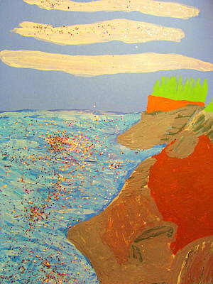 Painting - Oregon Coastal Beach View One by Amy Bradley