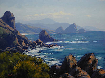 Oregon Painting - Oregon Coastal Rocks by Graham Gercken