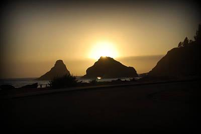 Digital Art - Oregon Coastal Sunset II by Kathy Sampson
