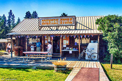 Oregon Country Store Art Print by Bob and Nadine Johnston