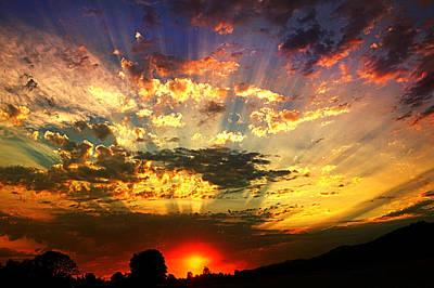 Oregon Crepuscular Sunset Art Print