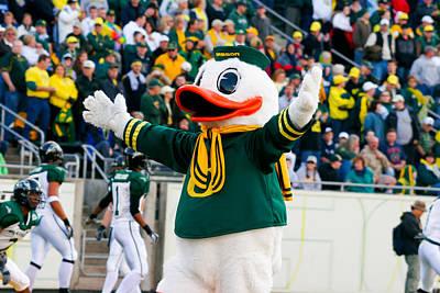 Duck Photograph - Oregon Ducks Mascot Puddles At Autzen Stadium by Joshua Rainey