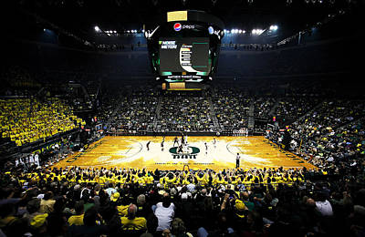 Oregon Ducks Matthew Knight Arena Art Print by Replay Photos