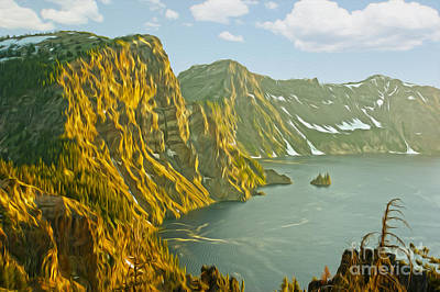 Oregon Lake Time Art Print by Nur Roy