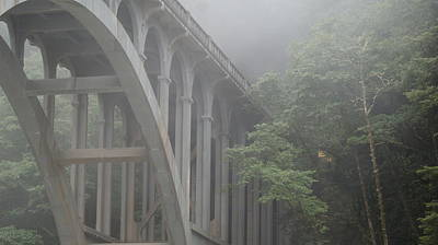 Photograph - Oregon Majestic Cape Creek Bridge by Michael Davis