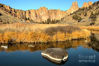 Redmond Photograph - Oregon River Rock Reflections by Adam Jewell