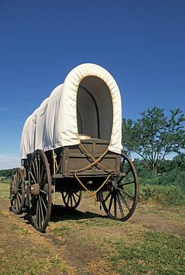 Conestoga Photograph - Oregon Trail Covered Wagon, Whitman by Greg Vaughn
