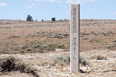 Photograph - Oregon Trail Marker by Cindy Singleton