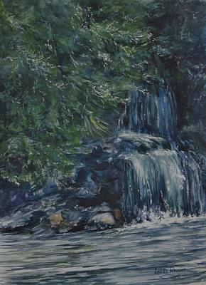 Painting - Oregon Waterfall by Lynne Wright