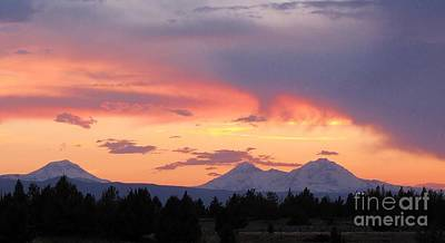 Photograph - Oregon's Three Sisters  by Michele Penner