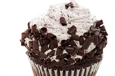 Oreo Cookie Cupcake 2 Art Print by Andee Design