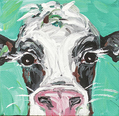 Moos Painting - Oreo Cow by Molly Susan Strong
