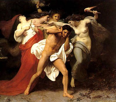 Painting - Orestes And The Furies by William Adolphe Bouguereau