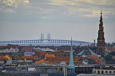 Oresund Bridge Art Print