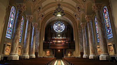 Roman Glass Photograph - Organ -- Cathedral Of St. Joseph by Stephen Stookey