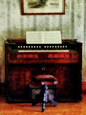 Photograph - Organ And Swivel Stool by Susan Savad