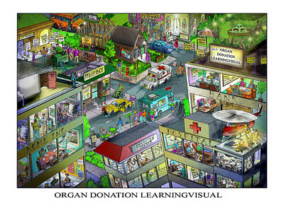 Digital Art - Organ Donation Learningvisual by Richard Erickson