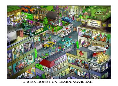 Digital Art - Organ Donation Learningvisual by Richard Erickson