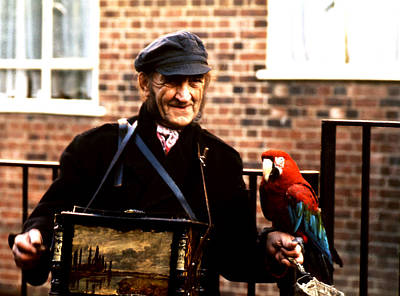 Photograph - Organ Grinder And Relative  by Robert  Rodvik