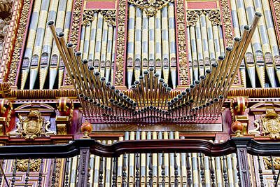 Organ In Cordoba Cathedral Art Print by Artur Bogacki