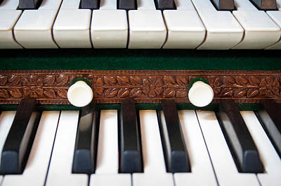 Photograph - Organ Keyboard by Jenny Setchell