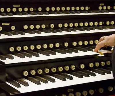 Photograph - Organ Keyboards by Jenny Setchell
