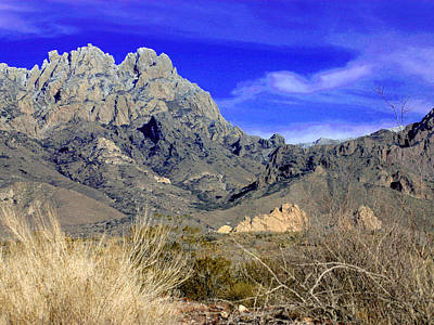 Las Cruces Photograph - Organ Mountain Frosty Top by Jack Pumphrey