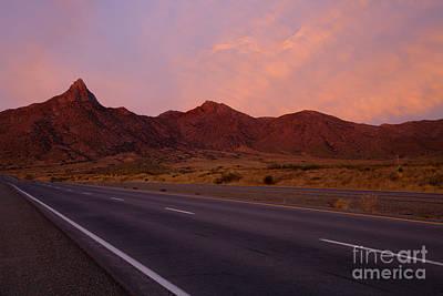 Dawn Photograph - Organ Mountain Sunrise Highway by Mike  Dawson