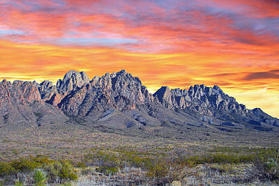 Organ Mountain Sunrise Most Viewed  Art Print by Jack Pumphrey