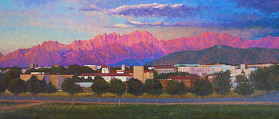 Las Cruces Painting - Organ Mountains by Abel DeLaRosa