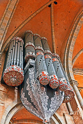 Photograph - Organ Pipes In Trier Cathedral by Elvis Vaughn