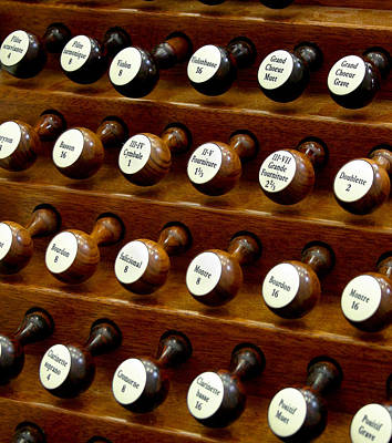 Photograph - Organ Stop Knobs by Jenny Setchell