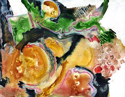 Organic Abstract Art Art Print by Blenda Studio