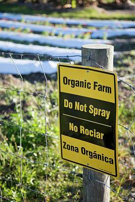 Banned Photograph - Organic Land Warning Sign by Jim West